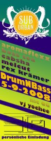 5.9.2008 - Suburban ~ Drum and Bass [Münster]
