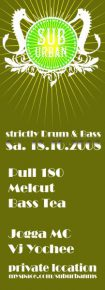 18.10.2008 – Suburban ~ strictly Drum and Bass [Münster]