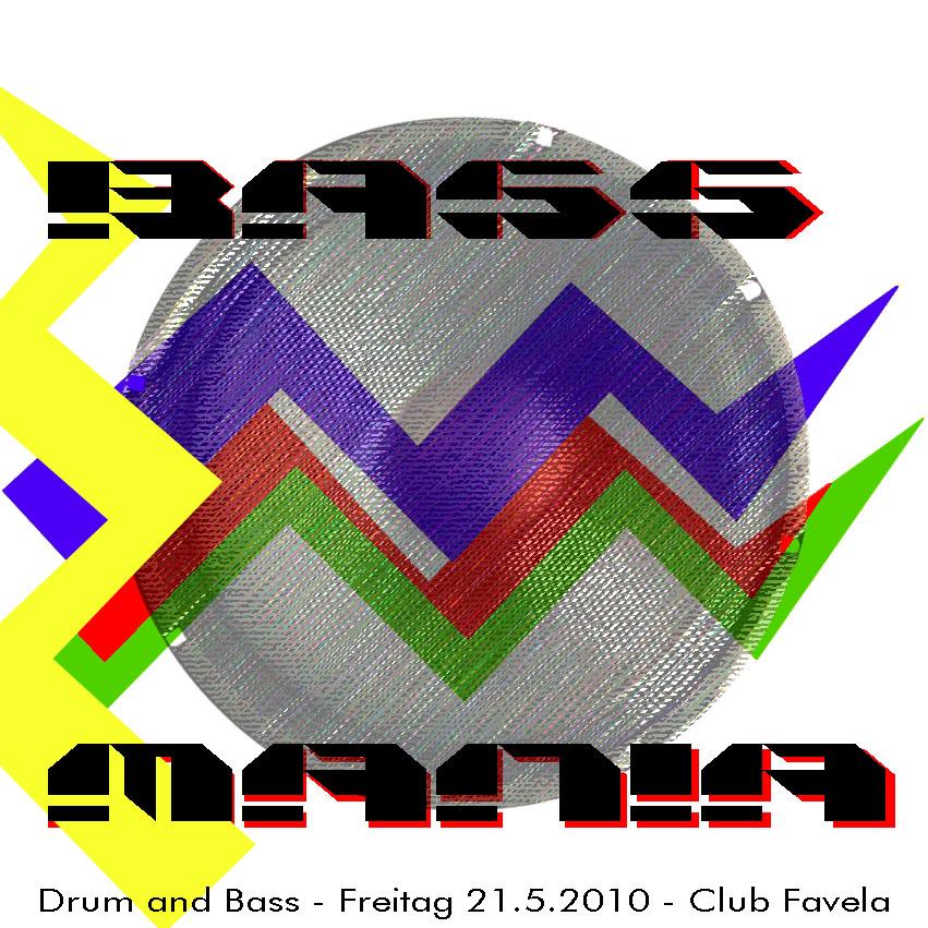 bassmania fr. 21.5.2010, Flyer by Yochee