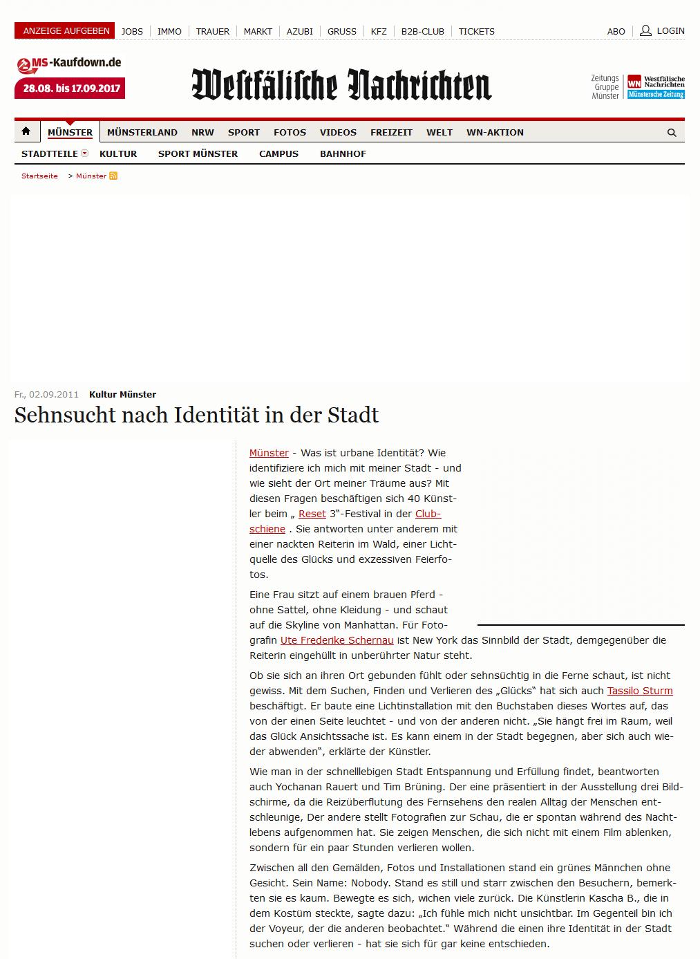 Presse am Fr., 02.09.2011