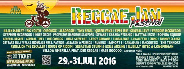 29.-31.7.2016 Reggae Jam Dub Camp