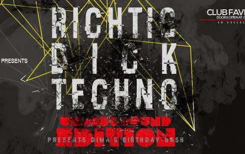 26.8.2016: Richtig DICK Techno (Club Favela, Münster)