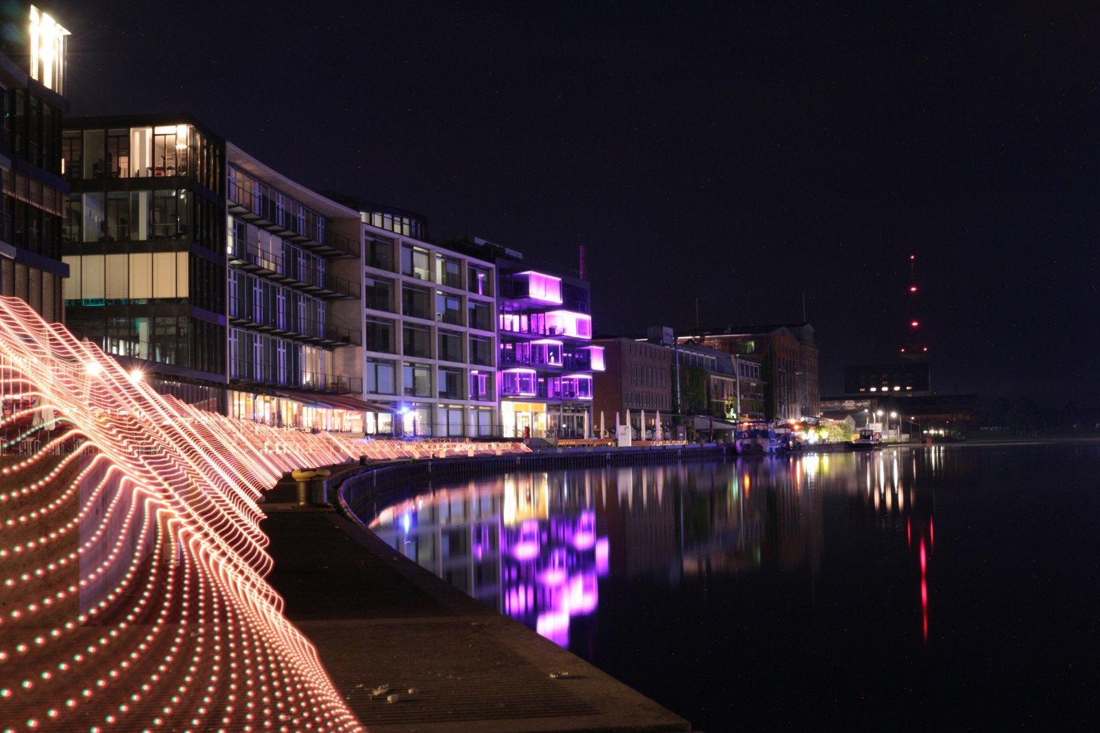 Light Painting am Münsteraner Hafen (2016)
