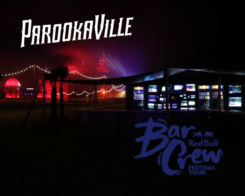 17.-23.7.2018 - Fernseher-Videoinstallation mit 55 Fernsehern auf dem Parookaville Festival [Weeze]